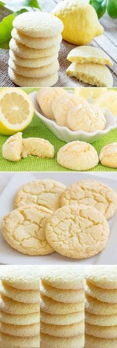 Lemon Cookies: ask your children to help you make them and then enjoy them all together, If you like let us your HELLO and give me your liked LOOK… Kitchen Recipes, Baking Recipes, Cookie Recipes, Dessert Recipes, Dessert Food, Baking Desserts, Cake Baking, Hallumi Recipes, Hotdish Recipes