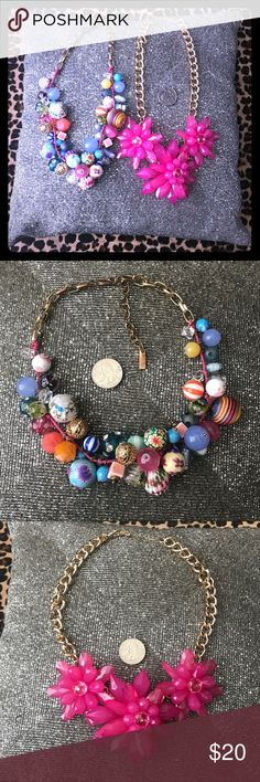 Colorful Beaded Statement Necklace Bundle Great colors. Just have too many. INC International Concepts Jewelry Necklaces