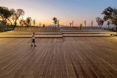 Image 29 of 34 from gallery of Bostanlı Footbridge & Sunset Lounge / Studio Evren Başbuğ. Photograph by ZM Yasa Photography Floating Pontoon, Plan Maestro, Timber Deck, Small Boats, Lounge, Master Plan, Walkway, Ecology, Landscape Architecture