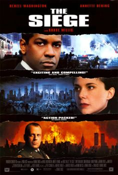THE SIEGE (1998): The secret US abduction of a suspected terrorist leads to a wave of terrorist attacks in New York that lead to the declaration of martial law. <<Contra el enemigo>>