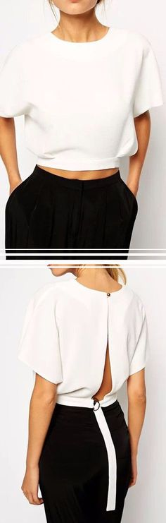White Chiffon Loose Blouse – Trendy Road: