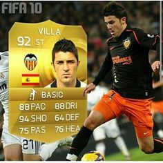Who remembers this David Villa card back in fifa 10? #david #villa #fifa10 #fifa #fifa16 #fifa15 #soccer #football #barca #valencia #op #beast #player #throwbackthursday #throwback