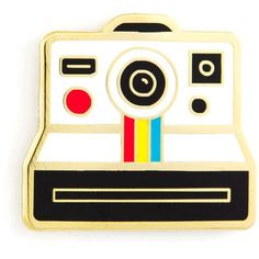 Polaroid Pin ❤ liked on Polyvore featuring jewelry, brooches, polaroid, pin jewelry and pin brooch