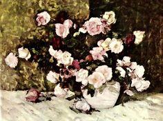 Stefan Luchian-Trandafiri Art Nouveau, Bun Bun, Masters, Roses, Paintings, Painters, Master's Degree, Pink, Paint