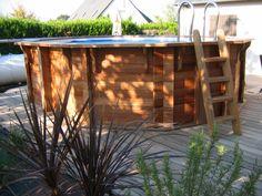 Piscine bois avec terrasse en bois exotique, essence padouk Aquarium, Concept, Collection, Pool Spa, Wooden Terrace, Aquarius, Fish Tank