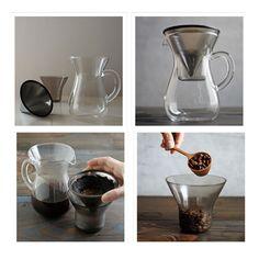 【日本 KINTO】Carafe 手沖咖啡壺組 300ml | Slow Coffee Style Carafe Set 2cups 300ml | BellaSumu ®