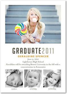 I think for grad these would be great, have one photo of Renée, one of me, then one of us together! As for the bigger photo, it would be either Renée or me, depending on whose invite the person is getting!