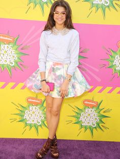 This is the season to show off your flirty side! Take a cue from Zendaya and wear a super-flared skirt (in florals of course!) with a collared blouse for a new take on a classic style!   - Seventeen.com
