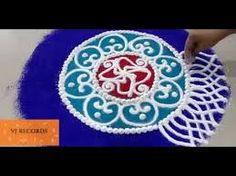Here I am showing how to make beautiful Diwali special Sanskar Bharati rangoli design. This is one of the most lovely rangoli designs. It is a nice rangoli f. Sanskar Bharti Rangoli Designs, Rangoli Designs Diwali, Kolam Rangoli, Henna Palm, Old Monk, Abstract Pencil Drawings, Indian Marriage, Indian Rangoli, Fairy Queen