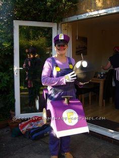 Original Waluigi Mario Kart Costume... This website is the Pinterest of costumes