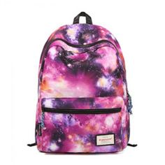 Cool! Vintage Galaxy Colorful Couple Waterproof Backpack School Bag just $35.99…