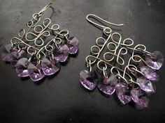 Naomi's Designs: Handmade Wire Jewelry: Wire wrapped chandelier earring design gallery