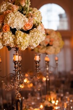 Close up and personal on these glorious centerpieces - Photography: Tessa Marie Photography
