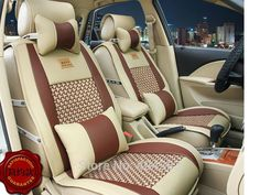 10 pic Luxury Leather Car Cushion seat covers Front & Rear Complete Set universal  for Honda Civic CRV City HRV Vezel Crosstour #Affiliate