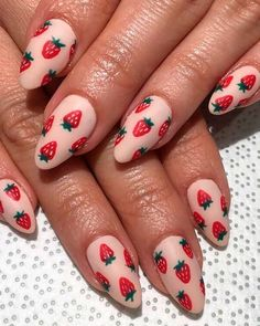 Cute summer fruit acrylic nails We've cherry-picked the most beautiful summer nails designs to choose the bright summer nails which, perfectly suit you from this beautiful nails list! Cute Summer Nail Designs, Cute Summer Nails, Cute Nails, My Nails, Nail Summer, Posh Nails, Cute Simple Nails, Cute Nail Art Designs, Spring Nails