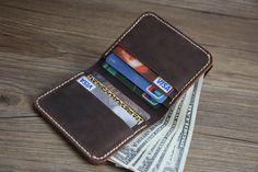 Rustic Distressed Leather Wallets, Short Wallets, Card Slots, Credit Card Holder, Cash Carrier, Bill Holder, Rocky Leather Design® by RockyLeatherDesign on Etsy