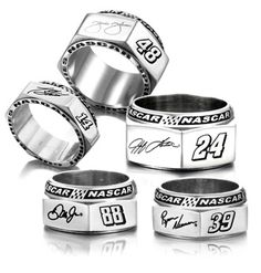 New Lugnut Rings give NASCAR® fans a stylish twist...I'd wear it!!