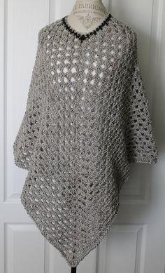 Woman  Shawl/Poncho  Marble Grey by SnugableTouches on Etsy, $32.00