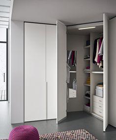 Wall Wardrobe Design, Corner Wardrobe, Ikea Wardrobe, Bedroom Closet Design, Boys Bedroom Decor, Girl Bedroom Designs, Wardrobe Doors, Closet Designs, Small Room Design