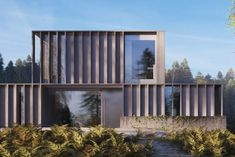 Carey House: the futuristic building that& give you property envy Minimalist Architecture, Futuristic Architecture, Facade Architecture, Amazing Architecture, Contemporary Architecture, Facade Design, Exterior Design, House Design, Futuristic Home