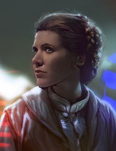 Leia Star Wars, Star Wars Day, Star Wars Fan Art, Carrie Fisher, Saga, Princesa Leia, Han And Leia, Drawn Art, Star War 3