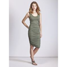 Love this Khaki Thea Ruched Tank Dress on Khaki Dress, Green Dress, Dresses For Sale, Dresses For Work, Tank Dress, Capsule Wardrobe, Casual, Clothes, Summer 2014