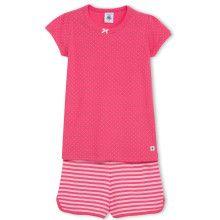 Roze pyjama met short