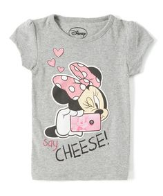 Look what I found on #zulily! Minnie Mouse 'Say Cheese' Tee - Toddler by Minnie Mouse #zulilyfinds