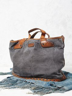 Free People Washed Rail Tote, $168.00