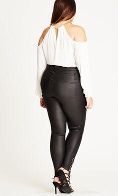 Shop Women's Plus Size Skylar Corset Skinny Jean - Short - Denim | City Chic USA