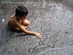 Two Taino Petroglyphs on the Rio Blanco river in Puerto Rico