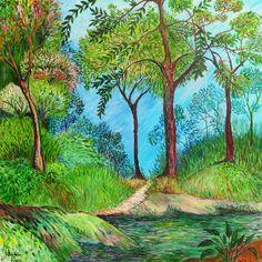 Floresta Tropical - Acrílica s/painel - 70 x 60 - 2015