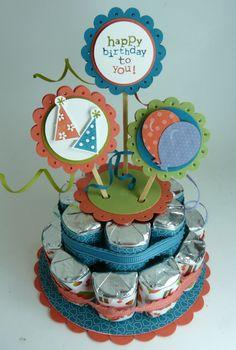 nugget birthday cake