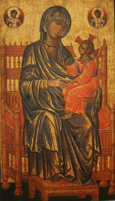 Enthroned Madonna and Child (detail), tempera on panel, 13th century, Anonymous Byzantine, National Gallery of Art, Washinton DC, 2012
