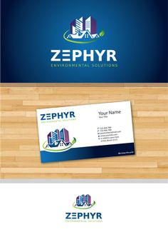 Create the visual expression for Zephyr Environmental Solutions, a design-minded HVAC company by D Solution
