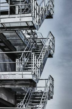 Exterior steel staircases Galvanised