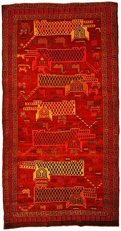5' 5 x 10' 6 Red Kurdish Berber Area Rug