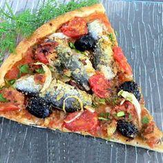 pizza aux sardines et tomates