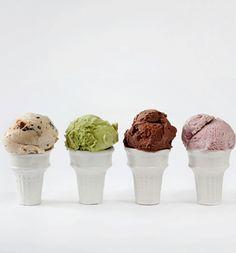 Porcelain ice cream cones -- from Virginia Sin www.virginiasin.com