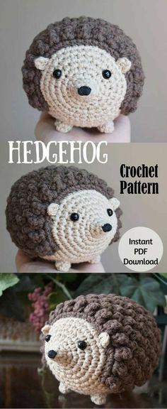 Crochet Amigurumi Pattern: Honey the Hedgehog, Hedgehog Crochet Pattern, Toy, Stuffed Animal Love Crochet, Crochet For Kids, Diy Crochet, Crochet Crafts, Yarn Crafts, Crochet Projects, Crochet Patterns Amigurumi, Crochet Dolls, Crochet Hedgehog