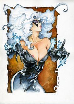 Black Cat by Alfonso Azpiri Comic Art