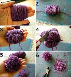 Cómo hacer ponpones con lana