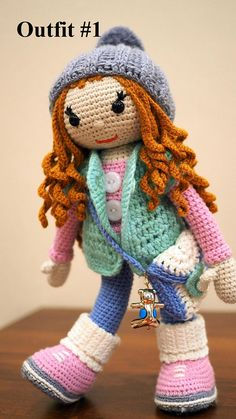 Large 12' crochet doll with clothes Christmas kids gift