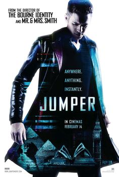 Jumper, action adventure sci-fi, available on netflix dvd plan