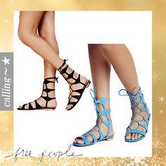 セレブ愛用 ☆Free People☆ Lina Lace Up Gladiator Sandals