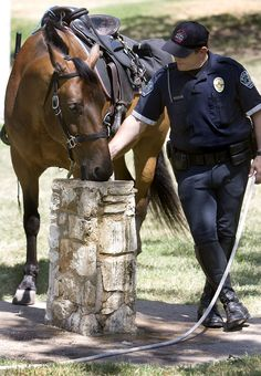 our cops still use horses.  Hay Mayor where were they in the recent Balto. riots that nearly burned down Balto.