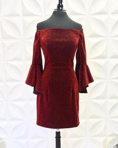 Burgundy Off the Shoulder Metallic Tight Short Homecoming Dress Bell Sleeve Dress, Bell Sleeves, Shorts With Tights, Off The Shoulder, Burgundy, Formal Dresses, Dresses For Formal, Formal Gowns, Formal Dress