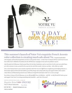 Special 2 day sale to help raise money for pediatric cancer with @Votre Vu.  Get your this Friday and Saturday only for $12!