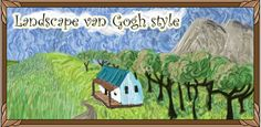 introduces the pupils to landscape painting in the style of Van Gogh