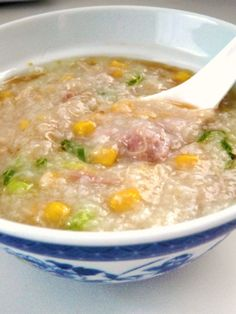 The Red Gingham: Slow Cooker Chicken and Corn Congee